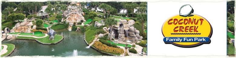 Coconut Creek Mini-Golf and Gran Maze in Panama City Beach