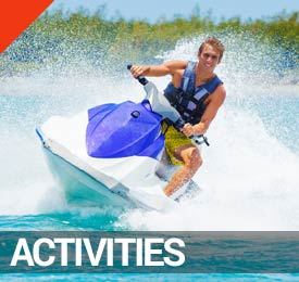 Activities in Panama City Beach on the Visitor's Map