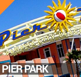 Pier Park in Panama City Beach on the Visitor's Map