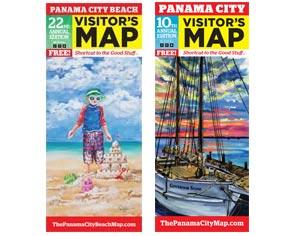 2016 Visitor Maps for Panama City Beach and Panama City, Florida