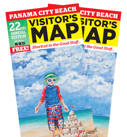 Double Panama City Beach Visitor's Map