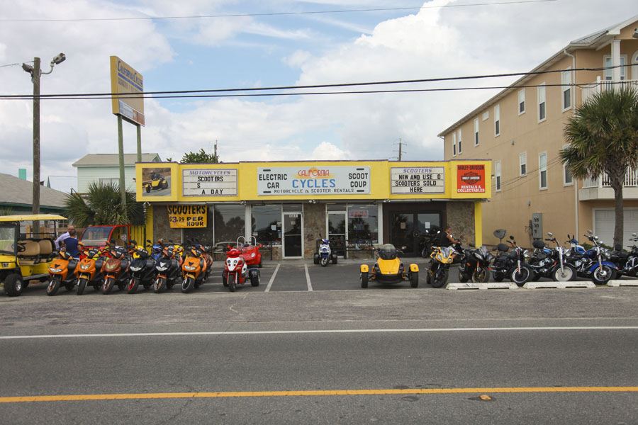 California Cycles Scooter Rentals In Panama City Beach Fl