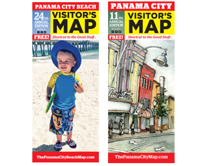 Order Visitor Maps for Panama City Beach and Panama City, Florida