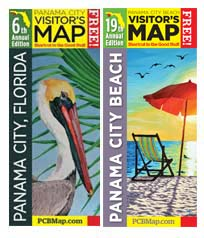 Order One or Both of th Visitor Maps for Panama City or Panama City Beach, Florida