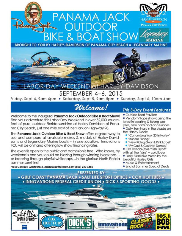 Panama Jack Outdoor Boat & Bike Show in Panama City Beach
