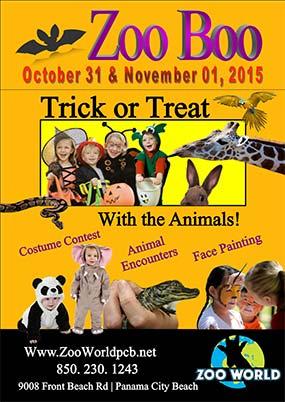 2015 ZooWorld ZooBoo Poster