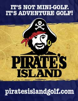 Pirate Island Mini Golf in Panama City Beach, Florida