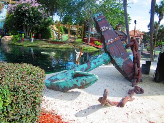 Pirate's Island Adventure Golf miniature golf in Panama City Beach, Florida