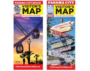 Order Visitor Maps for Panama City Beach and Panama City, Florida